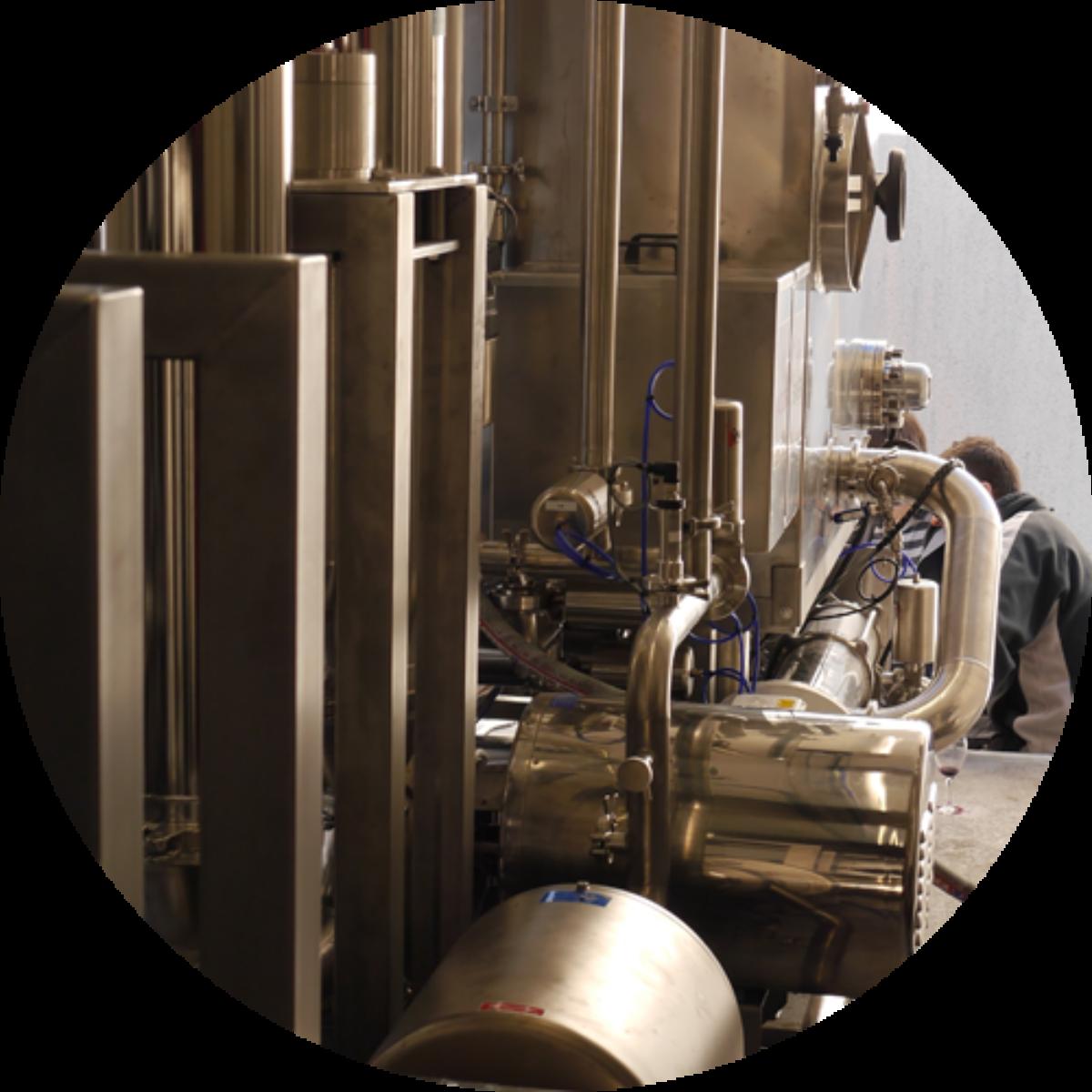 Wine filtration: tangential flow filter