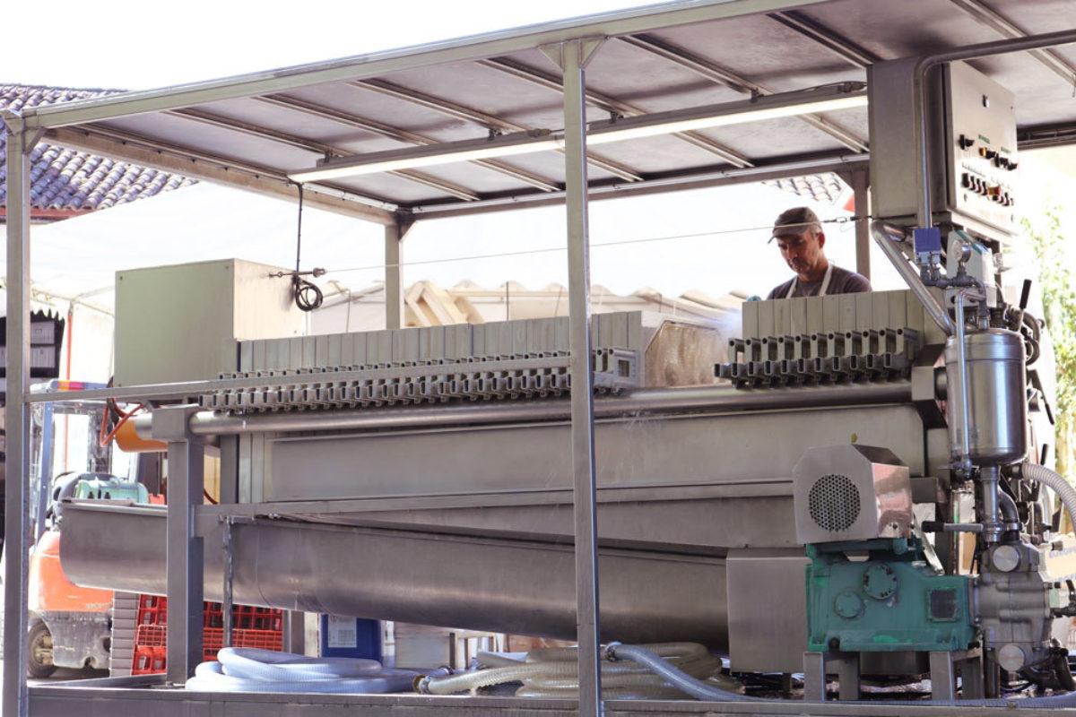 Filtration Vins Sur Filtre Presse